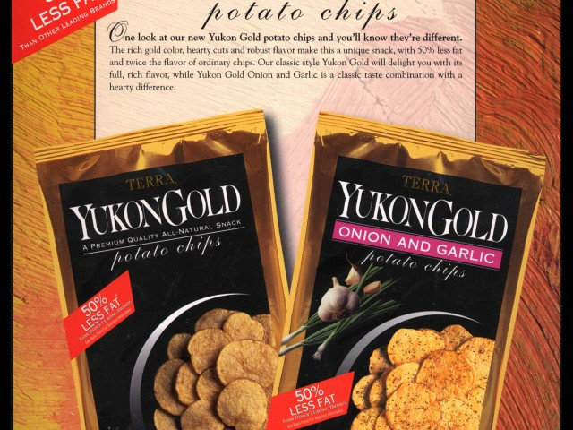Yukon Gold Potato Chips packaging